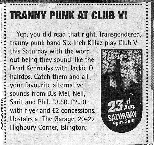 Club V, The Garage, 23 Aug 97