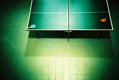 Ping Pong (The Flip) Tags: blue red green composition table los lomo lca xpro angeles 2006 september tennis artsy flip ping pong top20lomo fartsy the