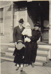 Grandpa, Grandma, Aunt Gert, & mom 1920 Spring St Grand Rapids (edwinmorgan1950@sbcglobal.net) Tags: grandma mom grandpa gert