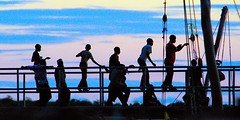 Hanging Out at Shimoni Jetty (jay_kilifi) Tags: africa evening twilight shadows kenya jetty abigfave shiomoni