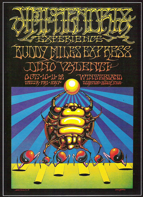 poster by Rick Griffin amp Victor Moscoso 1968 Oct 101112 Jimi Hendrix at Winterland SF (BG140) by guano
