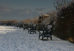 Lonely benches (~Glen B~) Tags: uk winter snow bench cleveland benches teesside saltburn saltburnbythesea satelliteportfolio