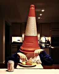 eat (hool a hoop) Tags: traffic cone