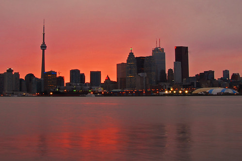 Torontos skyline from the Port Lands
