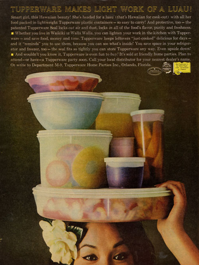 Luau, Tupperware ad, 1950s?