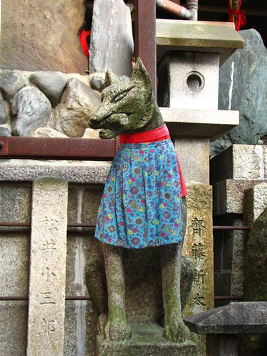 Fushimi Inari dressed fox in sub-shrine by ravengirl1220