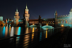 Beautiful Bridge (Dietrich Bojko Photographie) Tags: building berlin tag3 taggedout architecture night reflections d50 bravo tag2 tag1 webinteger quality awesome kitlens nikond50 spree dri 18mm oberbaumbrcke nofilters nikkor1855mm spectnight fivestarsgallery abigfave 10exposures