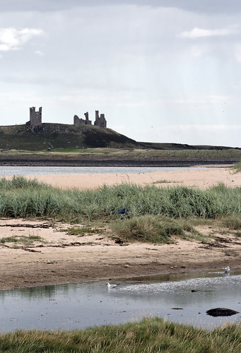 Dunstanburgh castle from Embleton bay