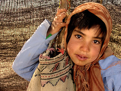 I'm IRANIAN (HORIZON) Tags: portrait black girl face kid faces iran horizon persia tribal tent iranian theface blecktent