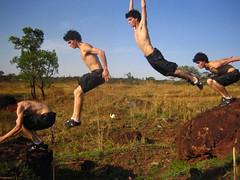 Estágios do salto de precisão