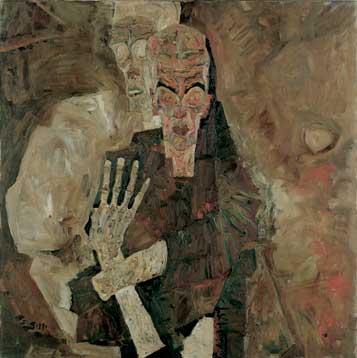 E.Schiele_Un Homme et la Mort