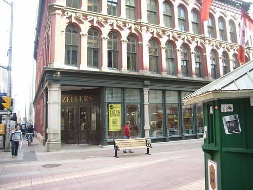 An old-fashioned Zellers store on Sparks Street Mall.
