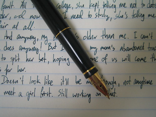 Writing samples: Parker 75 da churl.