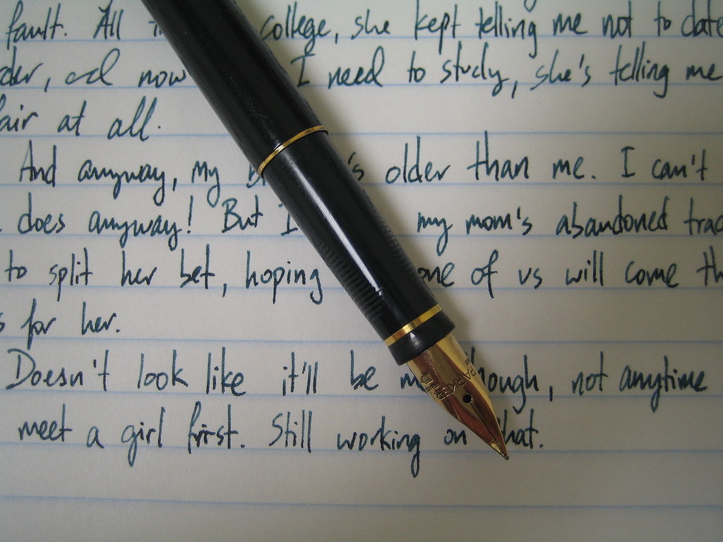 Writing samples: Parker 75