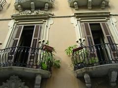 Balconies in Trapani, Sicily (elviraZ) Tags: italy italia balcony 2006 balconies sicily sicilia trapani sizilien