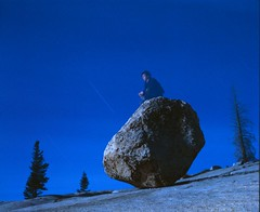 Tiernan Dolan  - Steve's Rock, Olmstead Point. CA  1989 (Sharper24) Tags: leica people motion night surrealism yosemite coolest timeexposures tiogapass olmsteadpoint thebigone flickrspecial ithinkthis