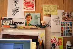 view from my keyboard (chrisglass) Tags: mess toystory desk doodles detritus canasta heman fieldnotes fieldnotesbrand