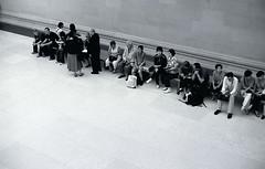 Groupings (gilberts) Tags: people blackandwhite london group britishmuseum figures behaviour