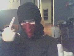 Ninja (chicgeekuk) Tags: laura scarf webcam ninja flip hunt scavenger kishimoto ugt laurakishimoto laurakishimotoca