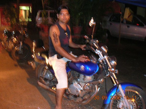 Mohit and his tattoo on the legendary avenger