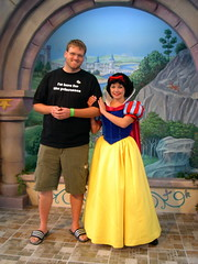 Me and Snow White (Andy Neitzert) Tags: county charity orange goofy kids hospital children mouse kid walk disneyland disney mickey haunted adventure childrens characters mansion fundraiser choc walkathon calfornia