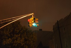GO! STOP! (Ian Meyer) Tags: new york rain brooklyn trafficlight stoplight