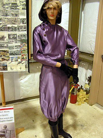 Replica of the Birdwoman's Flight Suit, Harriet Quimby 1875-1912