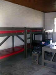 Bunks in our room at the Penitentiary