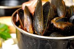 Mussels (ozczecho) Tags: food beer lunch bokeh sydney wharf seafood belgian cbd mussels combination bungalow8 kingstreetwharf dootherguestsintherestaurantalsogiveyoustrangelookwhenyouaretakingpicsofyrfoodddd