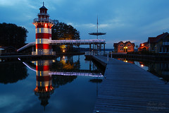 Not Only At The Sea There Are Lighthouses (Dietrich Bojko Photographie) Tags: lighthouse reflection tag3 taggedout d50 bravo tag2 tag1 searchthebest webinteger quality kitlens bluehour 18mm nofilters nikkor1855mm hafendorfrheinsberg abigfave rheinsbergerlake