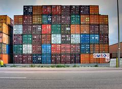 Containerization (elbisreverri) Tags: road haven topv111 yard port geotagged belgium belgie harbour topv999 terminal container antwerp topv666 antwerpen containers anvers portofantwerp havenvanantwerpen containerization delwaidedok delwaidedock geo:lat=51328218 geo:lon=4344926