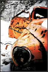 blind eye (nisi*) Tags: winter snow topf25 utah leaf rust decay carwreck bulletholes