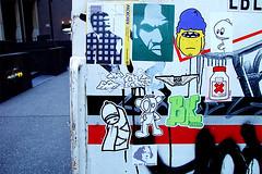 courtesy of billikid (c_damage) Tags: nyc newyorkcity streetart ny newyork sticker 2006 cdamage melvind billikid