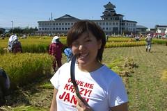 toothpick (Yumez) Tags: rice 2006 cutting aomori inakadate