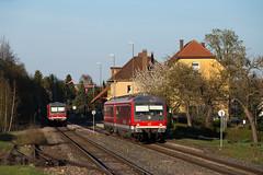 Schrozberg (Nils Wieske) Tags: badenwürttemberg westfrankenbahn schrozberg baureihe 628 6282 vt db bahn zug züge train railway railroad formsignale bahnhof