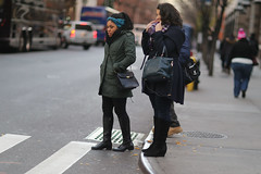 People waiting to crossing 49th Street at 8th Avenue. (kevinrubin) Tags: newyork unitedstates us