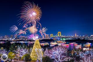 Odaiba Rainbow Fireworks 2016 (December 10th)