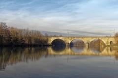 Gracieux reflet. (ychad) Tags: pont bridge reflet paysage fleuve marne