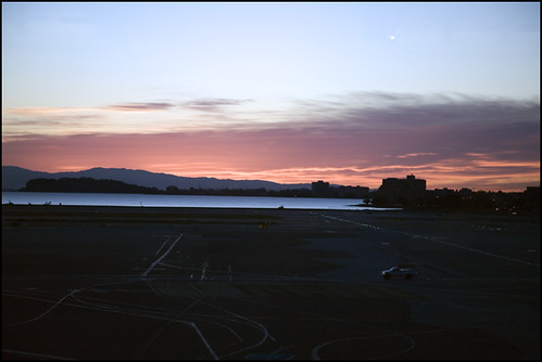 dawn over SFO