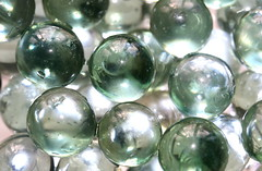 macro glass marbles