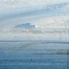 Bamburgh Castle (Ali's view) Tags: multipleexposure layers haze holyisland bamburgh sea blue castle northeast coast icm intentionalcameramovement stone landscape