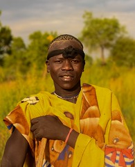 Mursi Tribe (Rod Waddington) Tags: africa african afrique afrika äthiopien ethiopia ethiopian ethnic etiopia ethnicity ethiopie etiopian omovalley omo outdoor omoriver outdoors mursi tribe traditional tribal warrior man culture cultural portrait people landscape trees makki mago