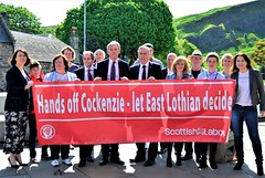 Handing in Cockenzie substation petition at Parliament