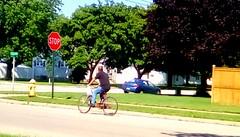 Summertime cyclist! (Maenette1) Tags: summertime cyclist neighborhood menominee uppermichigan flicker365 allthingsmichigan absolutemichigan projectmichigan