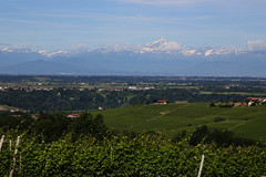 Mountain view (Bert#) Tags: italy piedmonte barolo mountain view snow landscape nature hike travel