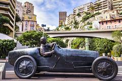 Fangio Statue in Monaco (www.alexandremalta.com) Tags: alexandremalta cityscape car statue monaco juan fangio