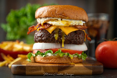 Bacon Cheeseburger with a Fried Egg - Commercial (jesmo5) Tags: jessmoore americancheese bacon baconcheeseburger baconcheeseburgerwithfriedegg beef bread bun burger cheese cheeseburger coke cola delicious delicous egg food foodphotography frenchfries fresh friedegg fries garnished gooey gourmet hamburger ingredients lettuce moorecreativedesign onion potato potatoes preparedmeal restaurant sides stylizedfood tomato trimmings