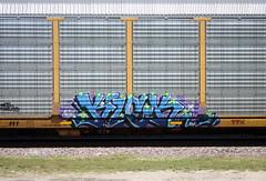 Kick (quiet-silence) Tags: graffiti graff freight fr8 train railroad railcar art kick msk awr seventhletter