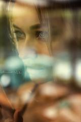 Reflejos (Moments by Xag) Tags: model modelo madrid mujer mirada retrato reflejo reflection eyes woman sadness tristeza romantic romantico bokeh shooting russian russianmodel boudoir portrait pretty glamour glance window ventana blur desenfoque xag nikon momentsbyxag