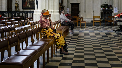 Belgium, By Myself, Elderly, Leuven, Religion/Church, Street
